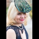 Gorgeous & Glorious Mini Peacock Feather Saucer Headpiece