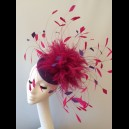 Gorgeous & Glorious Hot Pink & Purple Feather Headpiece