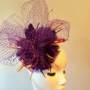 Gorgeous & Glorious Purple Veiling Cloud Headpiece