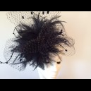Gorgeous & Glorious Dark Navy 'Cloud' Headpiece