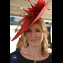 Gorgeous & Glorious Crimson Large Saucer Headpiece
