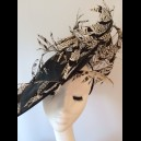 Gorgeous & Glorious Black Large Saucer Headpiece with Pheasant Feathers