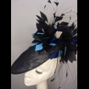 Gorgeous & Glorious Navy, Sapphire and Bright Blue Headpiece