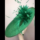 Gorgeous & Glorious Emerald Green Saucer Headpiece